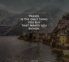 Travel making you richer