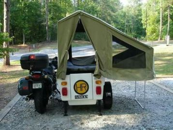 Motorcycle Trailer Tent