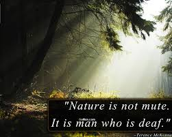 Nature is not mute