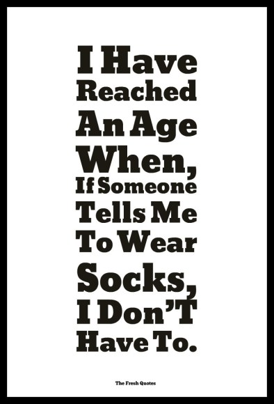aged socks