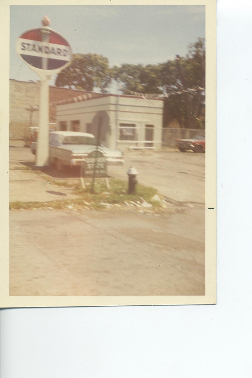 Joe Leake severe station, Standard oil gas station late 1960's